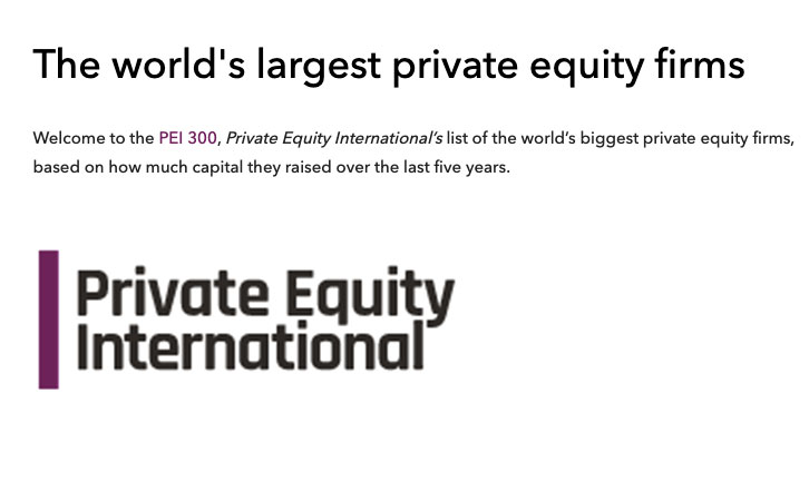 The world's largest private equity firms